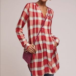 Anthropologie flannel shirt - Lucie Plaid Tunic